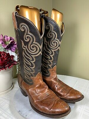 a093c84fc2e TONY LAMA TWO Tone Leather Western Cowboy Boots USA Mens Size 11 D ...