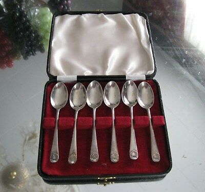 Gorgeous Set Of 6 Sheffield   Sterling Silver Demi Tasse Spoons