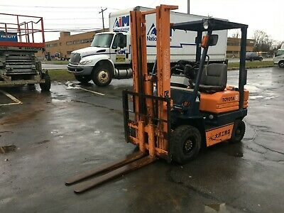 """Toyota Pneumatic Tire 3000# Cap. Diesel Forklift 10' Lift 42"""" Forks Compact,Hd"""