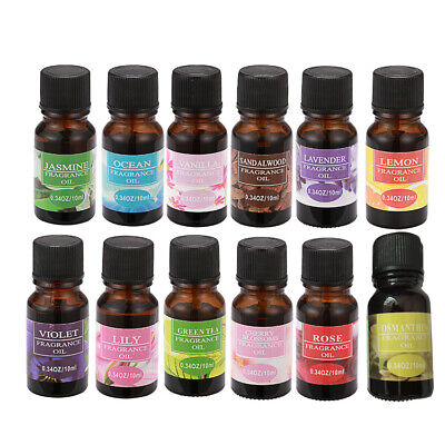 Pure Essential Oils 10ml Therapeutic Grade Aromatherapy For Skin Care Help Sleep