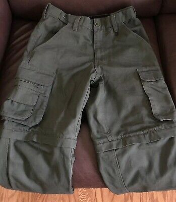 Boy Scouts of America Convertible Switchback Cargo Pants Shorts Youth Sz 8 BSA