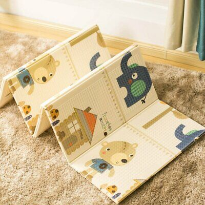 Baby Foldable Crawling Mat Baby Child Picnic Mat Xpe Climbing Mat Game Blanket A