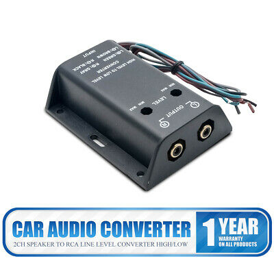 Car Stereo Audio RCA Speaker High To Low Level Line Output Converter & Wiring