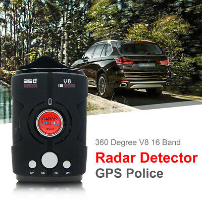 16 Band LED V8 Radar Detector Voice Alert Car Laser Speed 360 Degree Gps Police