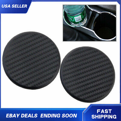 1xSilicone Car Water Bottle Drink Cup Holder Pad Mat Decoration Carbon Fiber NEW