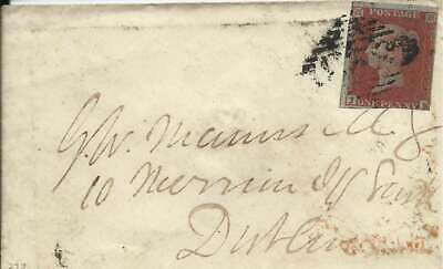 Ireland 1852 1d Red 2 Margins Cover with Markethill 323 Numeral to Dublin