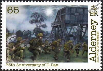 WWII D-Day PEGASUS BRIDGE 6th Airborne Division Infantry & Paratroopers Stamp