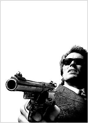 Dirty Harry Clint Eastwood Classic Movie Large Poster Art Print Maxi A1 A2 A3 A4