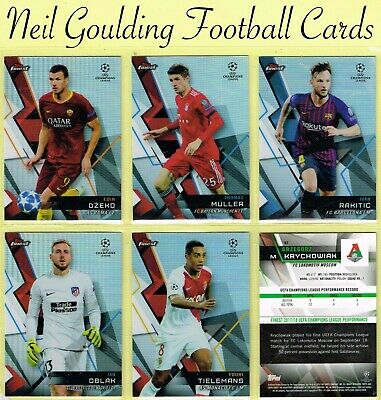 Champions League FINEST 2018-2019 ☆ REFRACTOR PARALLEL ☆ Cards #1 to #100