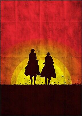 Django Unchained Classic Movie Large Poster Art Print Maxi A1 A2 A3 A4