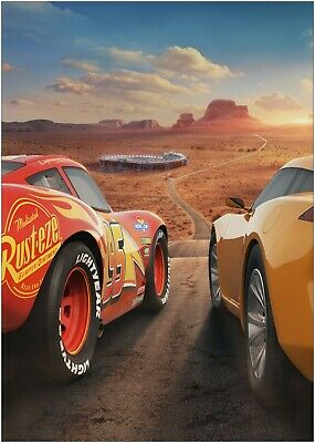 Disney Cars Lightning McQueen Giant A3 Section Wall Art Poster