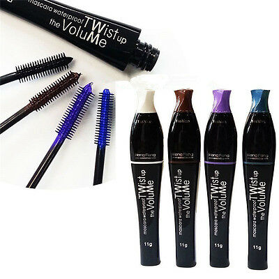 1X Mascara Curling Eyelash Extension Cosmetic Makeup Long Fibers Lashes 4 colors