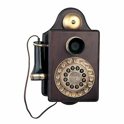 Kitchen Wall Phone Wooden Vintage Antique Push Button Telephone Retro Gifts Old
