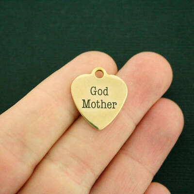 God Mother Gold Stainless Steel Charm - BFS138GOLD