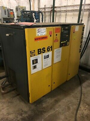 1999 BS61 Kaeser Rotary Screw Air Compressor 50 HP