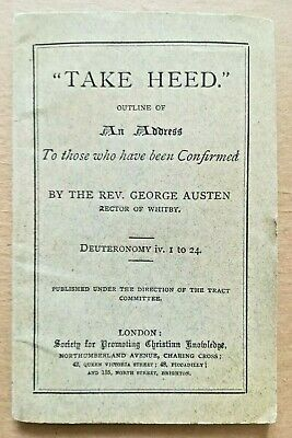 "RARE ANTIQUE ""TAKE HEED"" BOOKLET - CHRISTIAN KNOWLEDGE LITERATURE. LATE C.1800's"