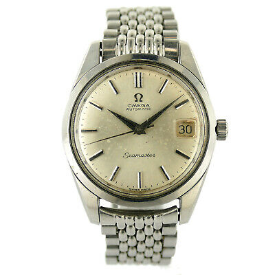 Omega Vintage Seamaster Automatic Silver Dial Stainless Steel Mens Watch