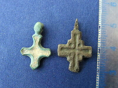 Ancient Bronze Cross. Enamel. Kievan Rus. 11-12 century +bonus