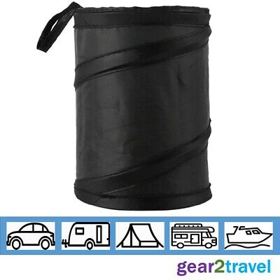 Mini Car Bin Pop Up Black Storage Portable Foldable Travel Rubbish Waste Basket