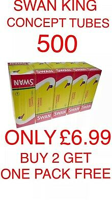 500 Swan Rizla Make Your Own Concept Cigarette Filter Tubes King Size
