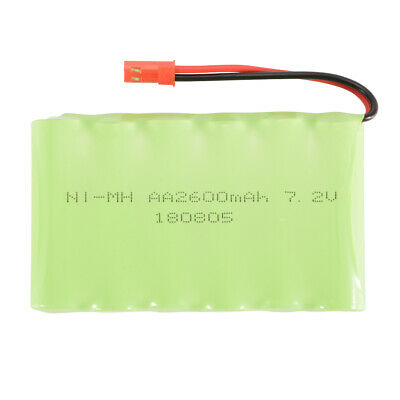 7.2V 2600mAh Ni-MH Rechargeable Battery JST Plug for RC Car Boat Model Toy BC758