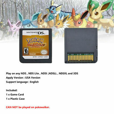 Pokemon HeartGold  Version Game Card Fits Nintendo 3DS NDSI NDS Lite
