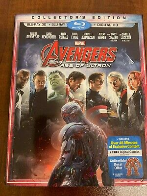 Avengers Age of Ultron 3D Blu-ray, Blu-ray Disc LIKE NEW Includes slipcover
