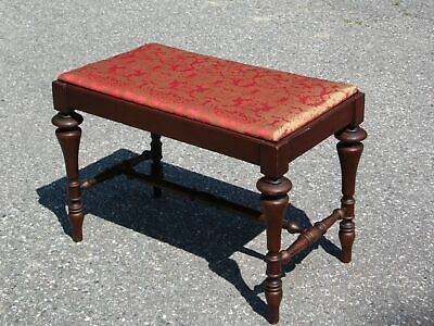 Antique French Provincial Piano Bench Vanity Bench Stool Footstool Ottoman