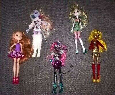 Monster High Dolls x5 Good Condition