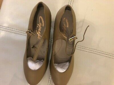 """New Capezio 550X AND 550 TAN Character Shoe 1 1//2 /"""" heel Child /& Young Adult"""