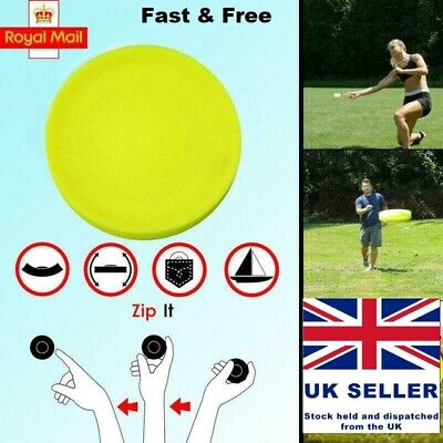 Zip Chip Frisbee Mini Pocket Flexible New Spin Catching Game Flying Disc UK Sell