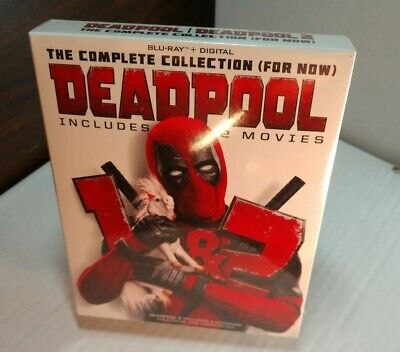Deadpool 2 Movie Collection (Blu-ray+Digital)w/Slipcover-NEW-Free Shipping~