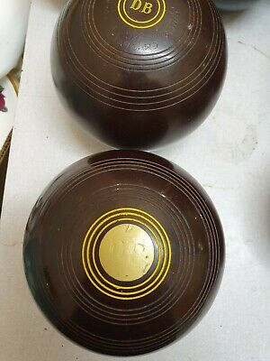 """Lawn Bowls Set Of 2 Used   5"""""""