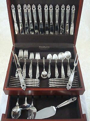 Royal Danish by International Sterling Silver Flatware Set Service 80 Pieces