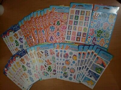 Wholesale Lot NEW Vintage American Greetings Care Bears 35 pkgs 200+ stickers