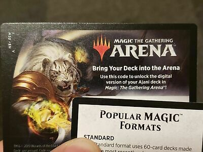 EMAIL ONLINE CODE ONLY MAGIC MTG ARENA Ajani Planeswalker Deck CORE SET 2020 M20