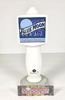 "Blue Moon Belgian White Wheat Ale Ceramic Beer Tap Handle 7"" Tall - Excellent!"