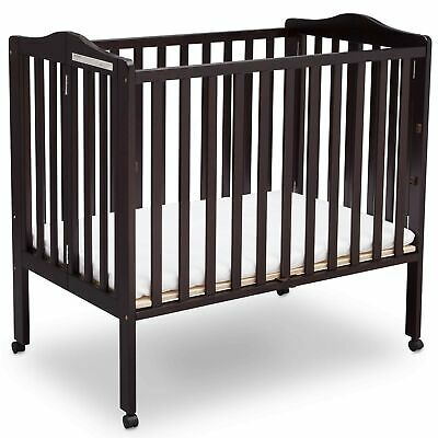 Delta Children Delta Children Folding Portable Mini Baby Crib with Mattress, ...