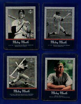 MICKEY MANTLE   2001 Upper Deck Pinstripe Exclusives   COMPLETE SET of 56 cards!
