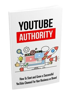 Youtube Authority EBook PDF Master Resell Rights