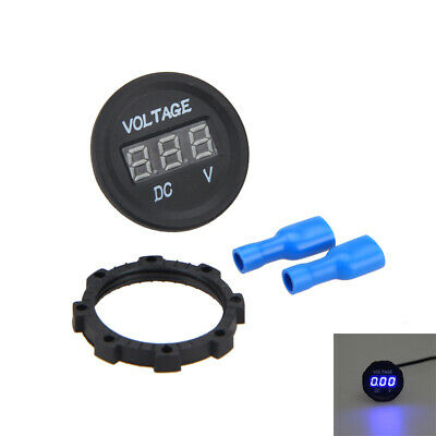 12V-24V Car Motorcycle DC LED Display Digital Voltage Voltmeter Meter Waterproof
