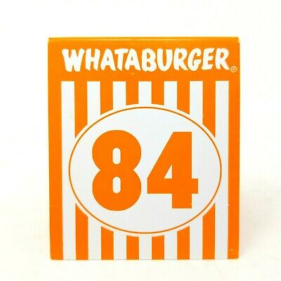 Whataburger Restaurant Number 84 Table Tent