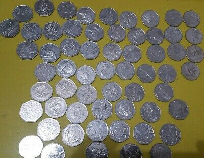 Mystery 50p Olympic full set jemima puddle duck lucky dip Coin Collection rare
