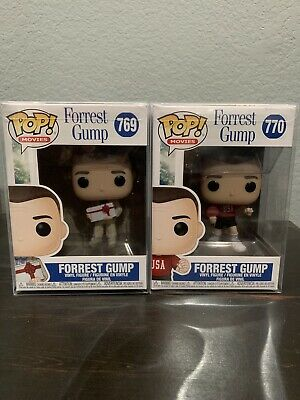 Funko Pop movies Forrest Gump Ping Pong outfit and forest with chocolate