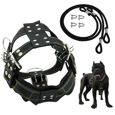 Nylon Weight Pulling Dog Harness Adjustable Training Harness for K9 Dogs Pitbull