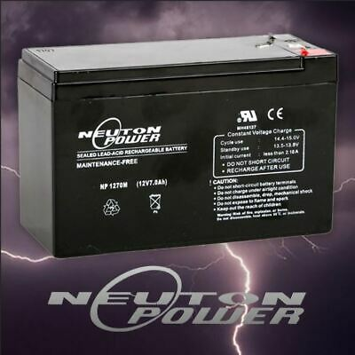 Neuton Power 12V 7Ah SLA AGM Battery for NBN Security Alarm Eaton ToyCar Scooter