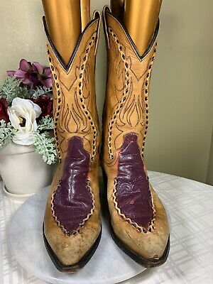 cf15908ee41 DAN POST ALBANY Dp26682 Buck-Lace Leather Distressed Cowboy Boots ...