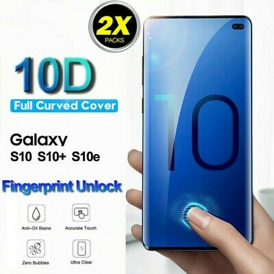For Samsung Galaxy S10e S10+ 9H Full Curved Tempered Glass LCD Screen Protector