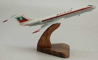 Tu-134 Balkan Bulgarian Airplane Desktop Kiln Dry Wood Model Regular New