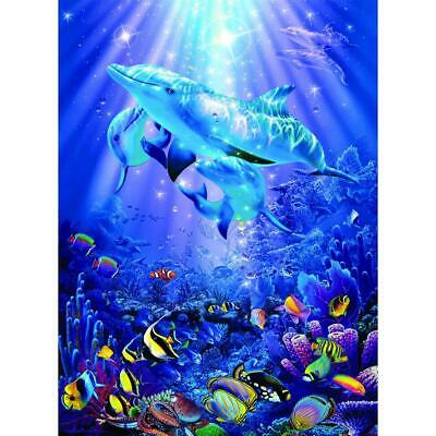 5D DIY Full Drill Square Diamond Painting Dolphin Cross Stitch Embroidery